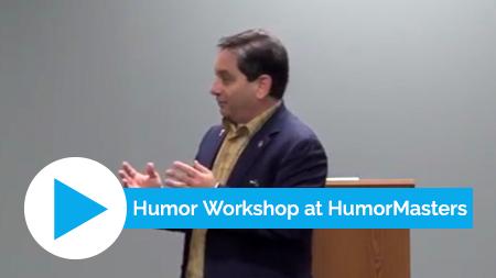 "Craig at HumorMasters delivering his presentation ""Bringing Levity to Life"""